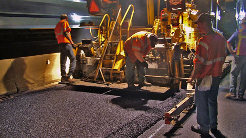 I-294 Tollway Night Paving